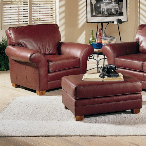 Peter Lorentz 658 Upholstered Chair and Ottoman