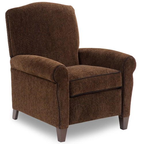 Peter Lorentz 713 Casual Pressback Reclining Chair with Sock Arms