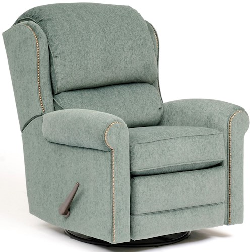 Smith Brothers 720 Casual Fabric Motorized Reclining Chair