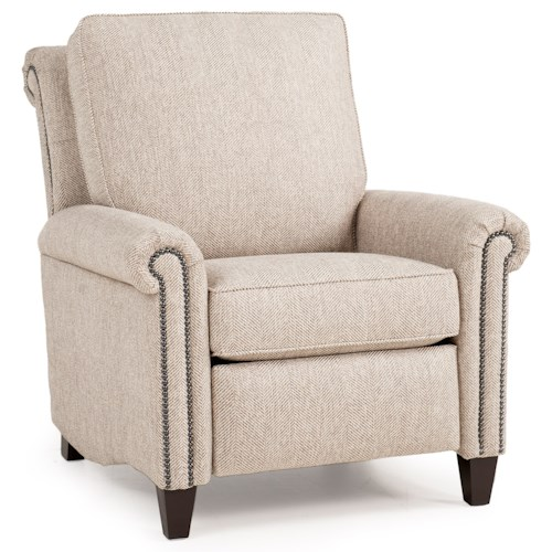 Peter Lorentz 726 Traditional Motorized Recliner with Scroll Back Design and High Tapered Legs