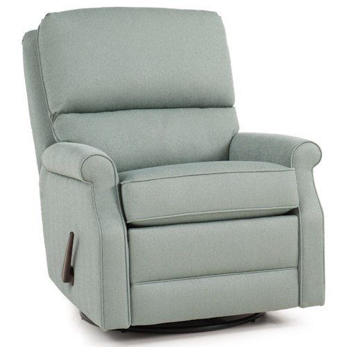 Peter Lorentz 727 Casual Motorized Recliner with Rolled Sock Arms