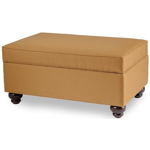 Smith Brothers 900 Ottomans Storage Ottoman with Turned Legs