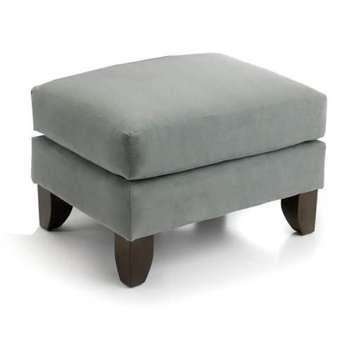 Smith Brothers 919 Ottoman w/ Tapered Legs