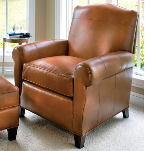 Smith Brothers 933 Casual Chair with Tapered Wood Legs