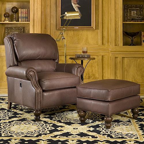 Peter Lorentz 950 Tilt-Back Chair and Ottoman Combination
