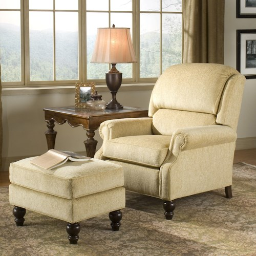 Peter Lorentz 950 Tilt-Back Chair and Ottoman Combination