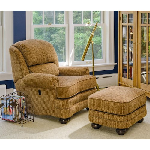 Peter Lorentz 988 Upholstered Tilt-Back Reclining Chair & Ottoman