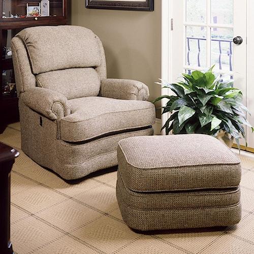 Smith Brothers 990 Tilt-Back Chair & Ottoman