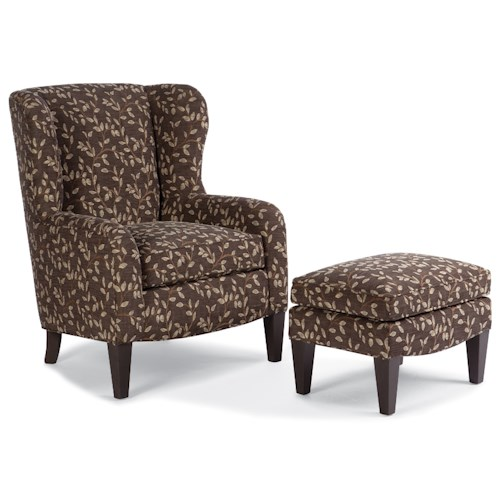 Peter Lorentz 994 Upholstered Chair & Ottoman