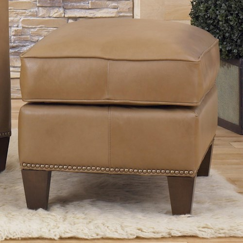 Smith Brothers Accent Chairs and Ottomans SB Transitional Ottoman with Nailhead Trim