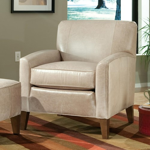 Smith Brothers Accent Chairs and Ottomans SB Contemporary Stationary Chair with Track Arms