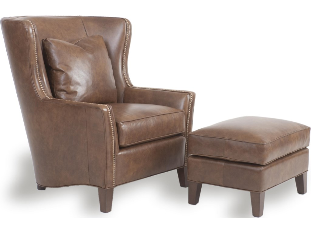Shown with Leather Wingback Chair