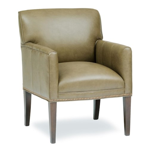 Peter Lorentz Accent Chairs and Ottomans SB Upholstered Chair with Long Tapered Legs