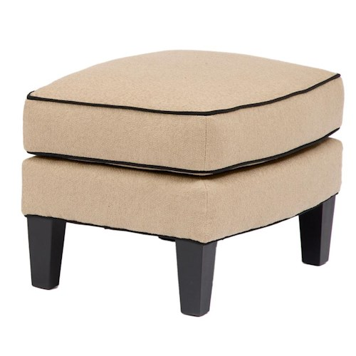 Smith Brothers Accent Chairs and Ottomans SB Upholstered Ottoman with Welt