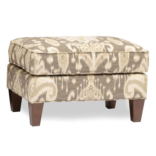 Smith Brothers Accent Chairs and Ottomans SB Upholstered Ottoman with Tapered Legs
