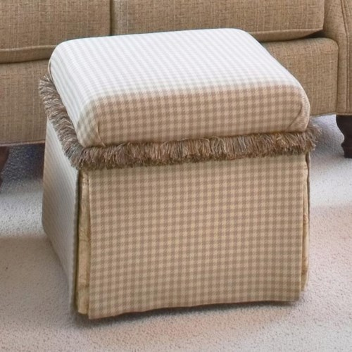 Smith Brothers Accent Chairs and Ottomans SB Traditional Bunching Ottoman with Skirt
