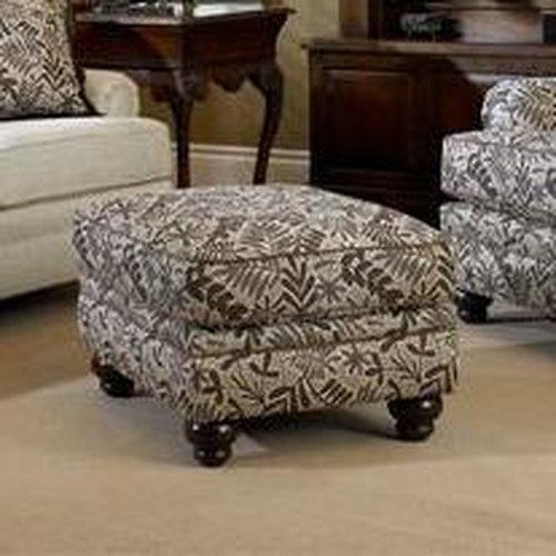 Peter Lorentz Build Your Own (5000 Series) Upholstered Ottoman with Turned Leg