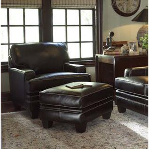 Smith Brothers Build Your Own (5000 Series) Upholstered Chair & Ottoman with Tapered Leg