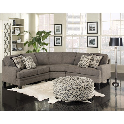 Smith Brothers Build Your Own (5000 Series) Five Person Sectional Sofa with Contemporary Style