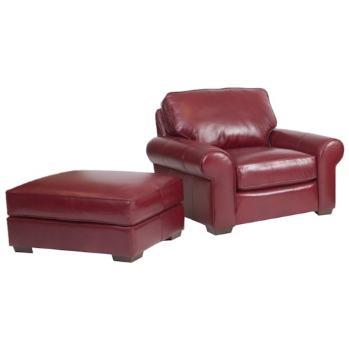 Smith Brothers Build Your Own (8000 Series) Classic and Casual Chair and Ottoman Set