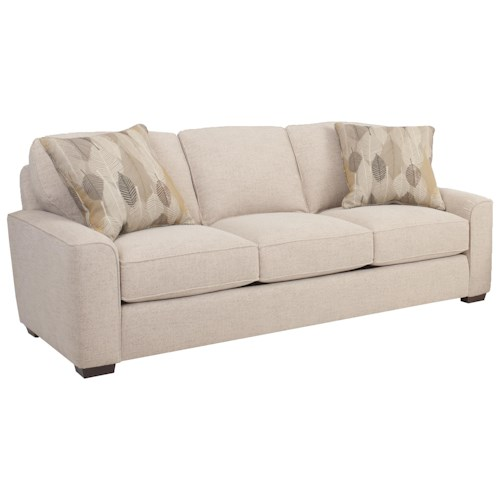 Smith Brothers Build Your Own (8000 Series) Mid-Size Retro Styled Sofa with Deco Arms