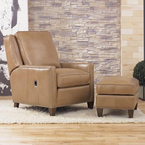 Smith Brothers Recliners Transitional TiltBack Chair and Ottoman – Reclining Chairs with Ottomans