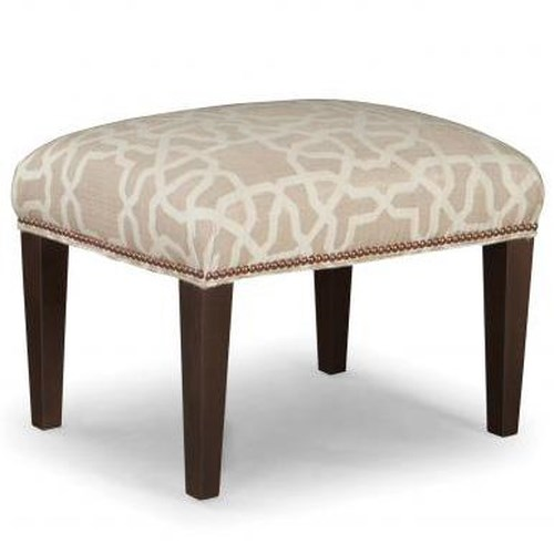 Peter Lorentz Smith Brothers 513 Upholstered Ottoman with Tapered Wood Legs