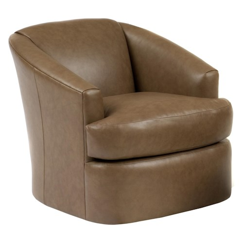 Peter Lorentz Smith Brothers Contemporary Barrel Swivel Chair
