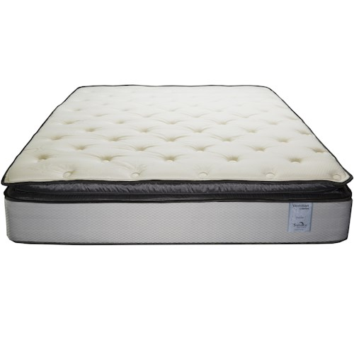Solstice Sleep Products Veridian Verde Queen Pillow Top Mattress and Standard 9