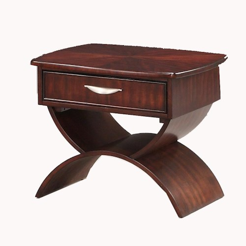 Morris Home Furnishings Cirque 1 Drawer End Table