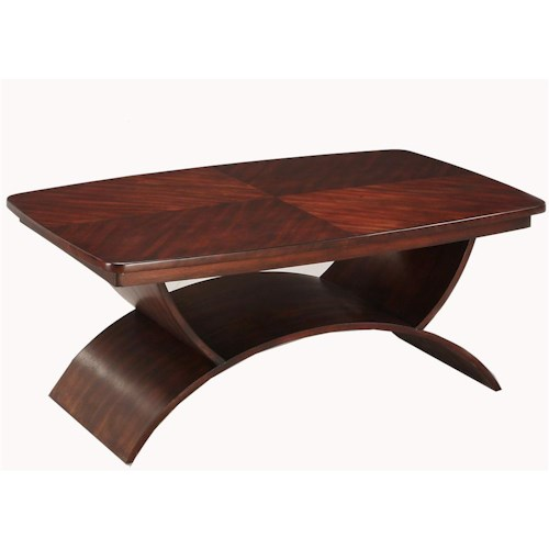 Morris Home Furnishings Cirque Cocktail Table with Curve Base