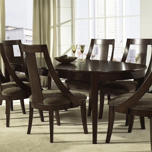 Morris Home Furnishings Cirque Oval Dining Leg Table