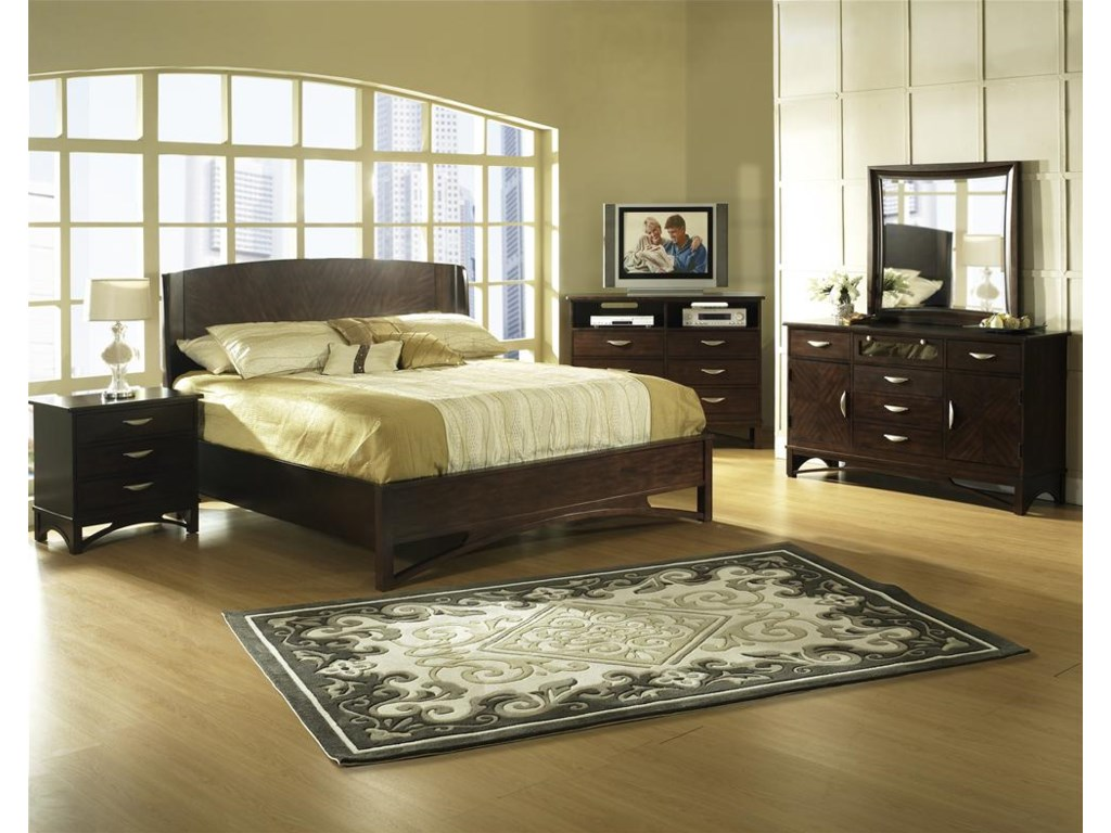Shown with  Nightstand, Bed, Dresser & Mirror