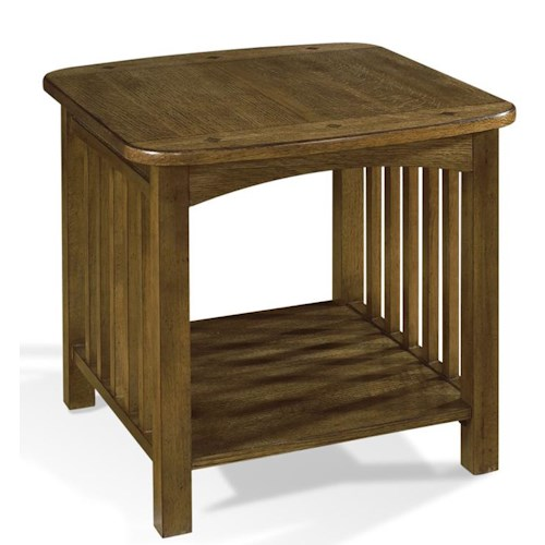 Morris Home Furnishings Craftsman 1 Shelf End Table