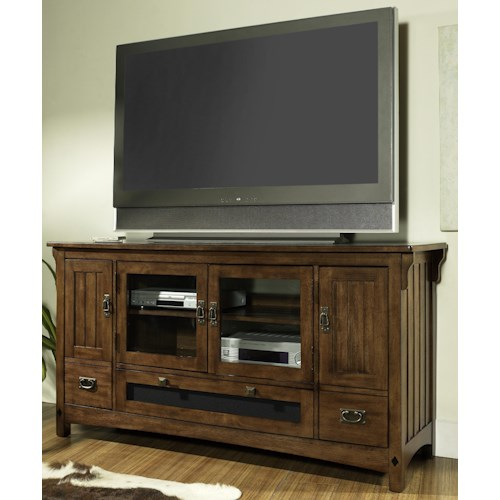 Morris Home Furnishings Craftsman Mission Styled TV Console