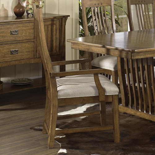 Morris Home Furnishings Craftsman Mission Arm Chair