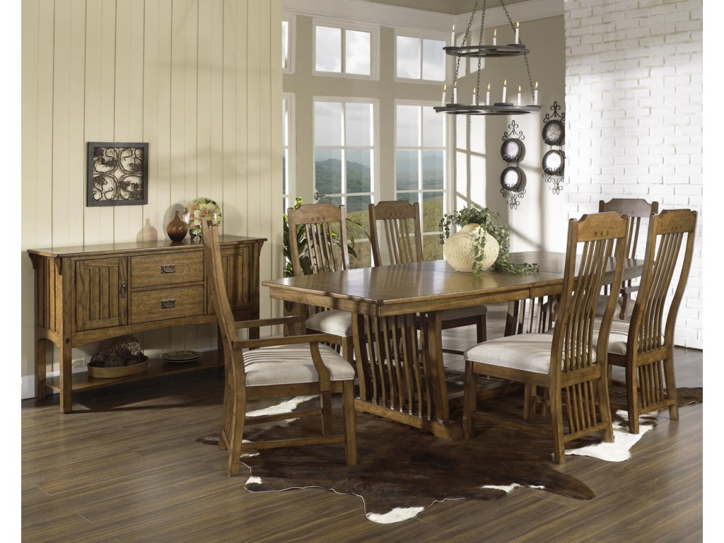 Shown with Server, Trestle Table & Side Chairs