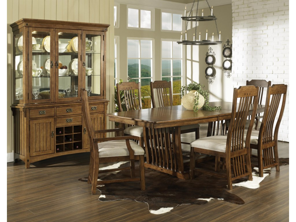 Shown with China, Trestle Table & Side Chairs