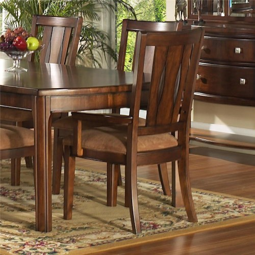Morris Home Furnishings Rhythm  Panel Back Arm Chair