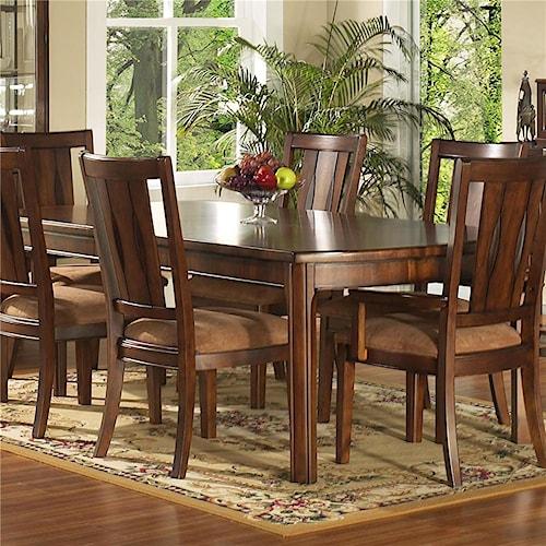Morris Home Furnishings Rhythm  Rectangular Leg Dining Table