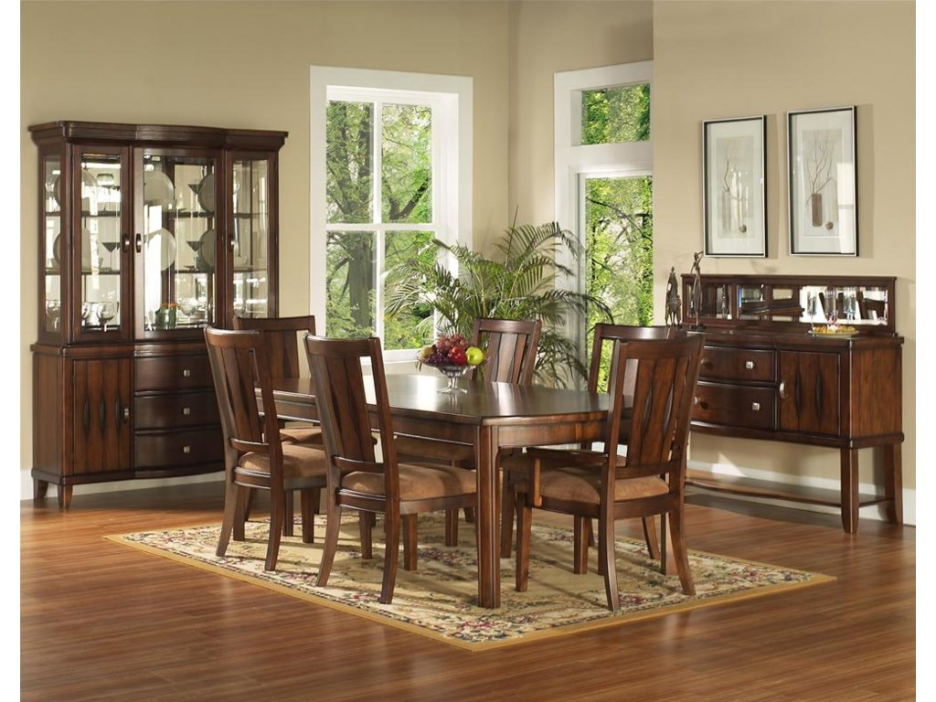 Shown with China Cabinet, Arm, Side Chairs & Server