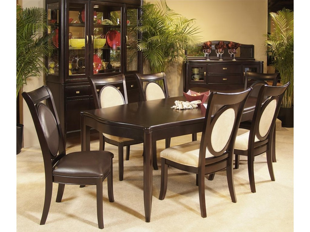 Shown with Upholstered Side Chairs, Table, China & Server