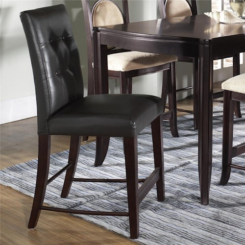 Morris Home Furnishings Signature Bicast Leather Bar Stool