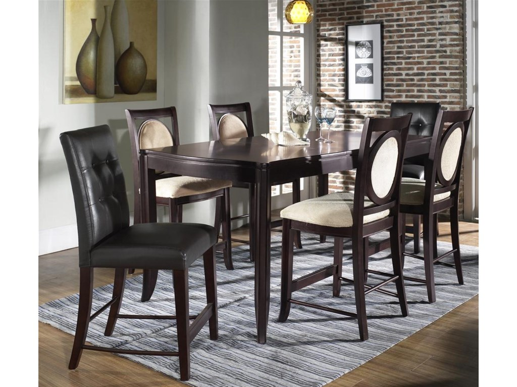 Shown with Bar Table & Upholstered Bar Stools