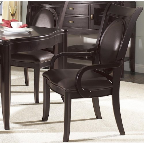 Morris Home Furnishings Signature Bicast Dining Arm Chair