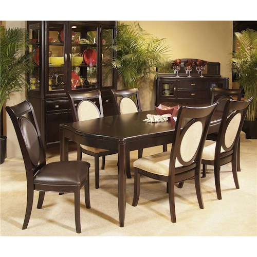Morris Home Furnishings Signature 7 Piece Solid Top Dining Table & Chair Set