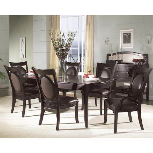 Morris Home Furnishings Signature 7 Piece Solid Top Dining Table & Bicast Chair Set