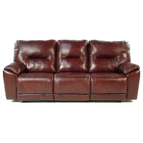Design to Recline Chianti Double Reclining Sofa for Family Rooms
