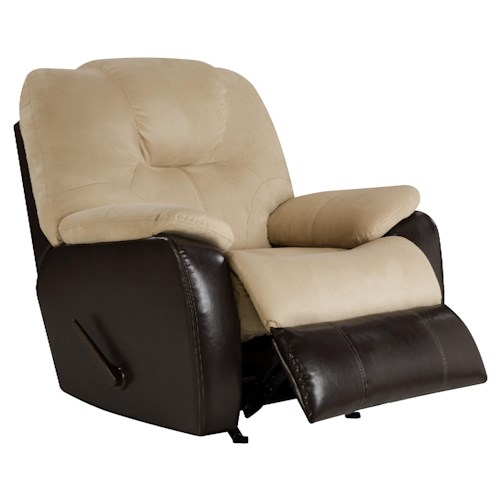 Design to Recline Avalon Comfortable Rocker Recliner