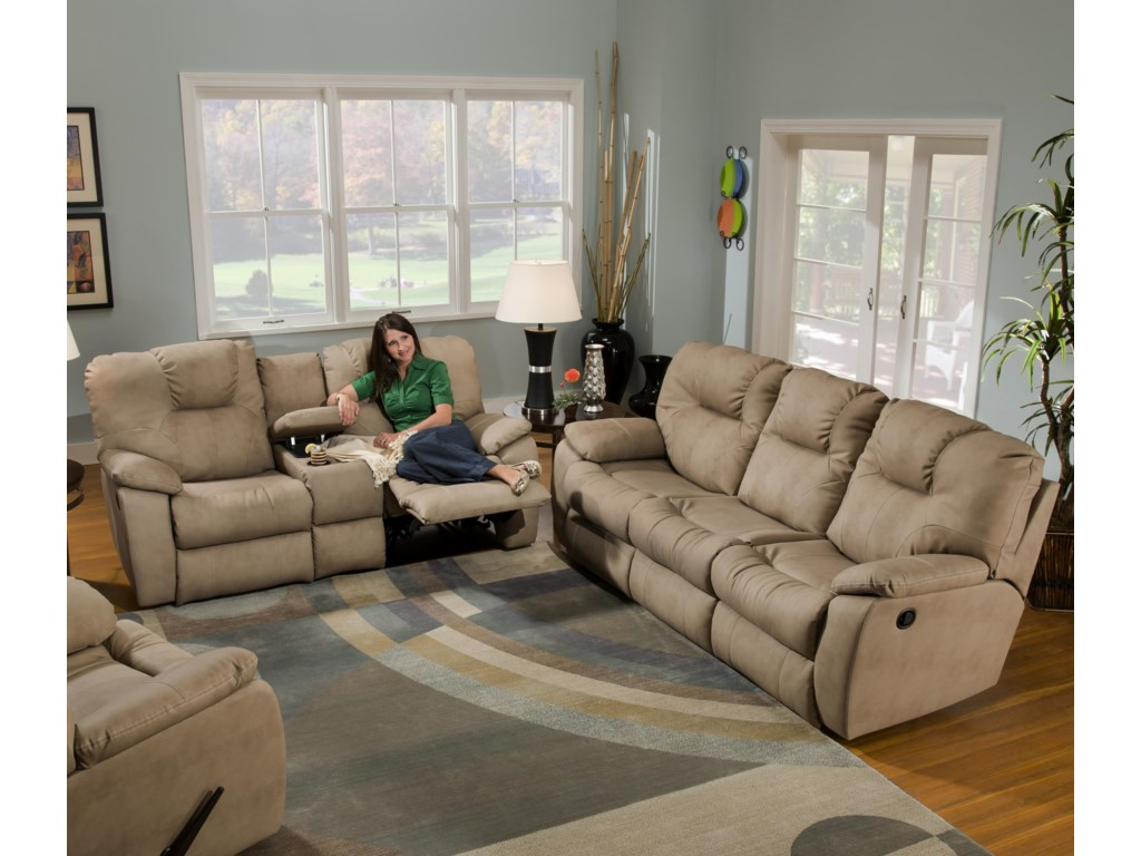 Shown with Coordinating Collection Console Sofa. Sofa Shown May Not Represent Exact Features Indicated.